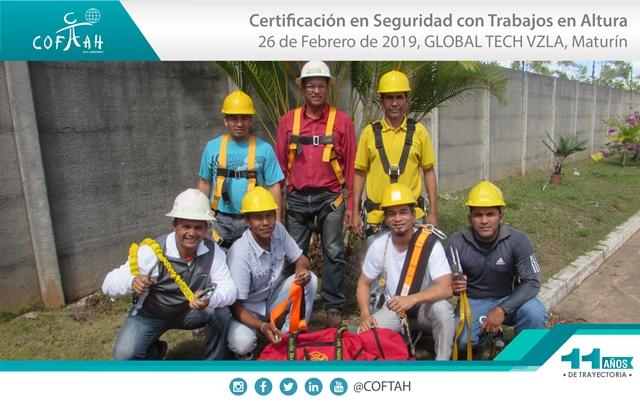 Certificación en Seguridad con Trabajos en Altura (GLOBAL TECH VZLA) Maturín