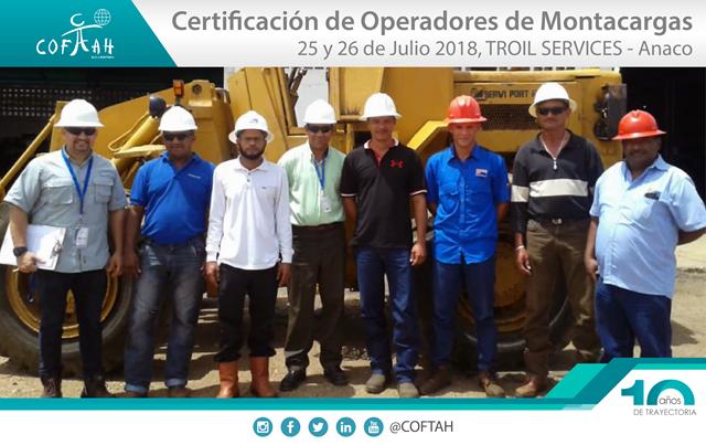 Certificación de Operadores de Montacargas (TROIL Services) Anaco