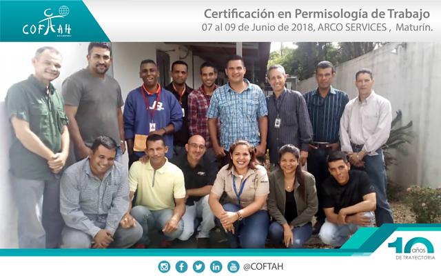 Certificación en Permisología de Trabajo (ARCO Services) Maturín