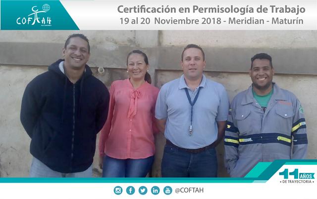 Certificación en Permisología de Trabajo (MERIDEAN) Maturín