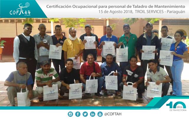 Certificación Ocupacional para Personal de Taladros de Matenimiento (TROIL Services) Pariaguan