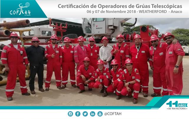 Certificación de Operadores de Grúas Telescópicas (WEATHERFORD) Anaco