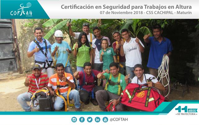 Certificación en Seguridad con Trabajos en Altura (CSS CACHIPAL) Maturín