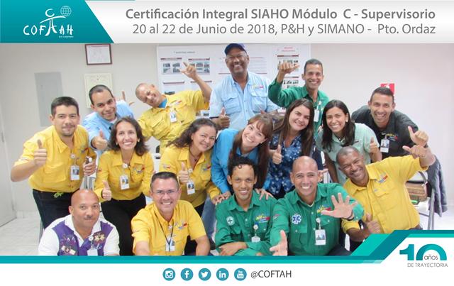 Certificación Integral SIAHO Módulo C - Supervisorio (P&H y SIMANO) Pto. Ordaz