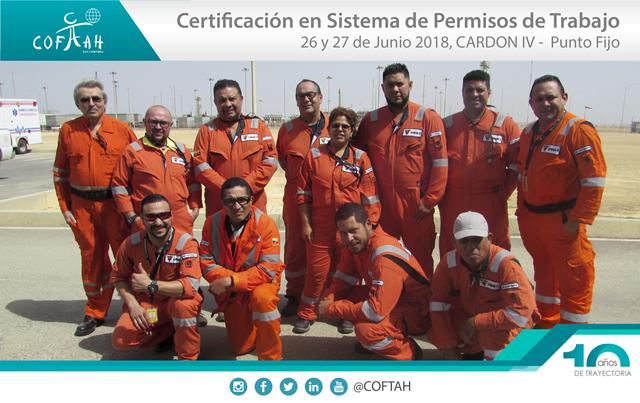 Certificación en Sistema de Permisos de Trabajo (CARDON IV) Punto Fijo