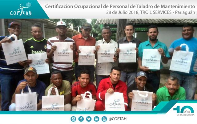 Certificación Ocupacional para Personal de Taladros de Servicios a Pozos (TROIL Services) Pariaguan