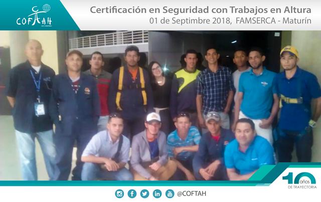 Certificación en Seguridad con Trabajos en Altura (FAMSERCA) Maturín