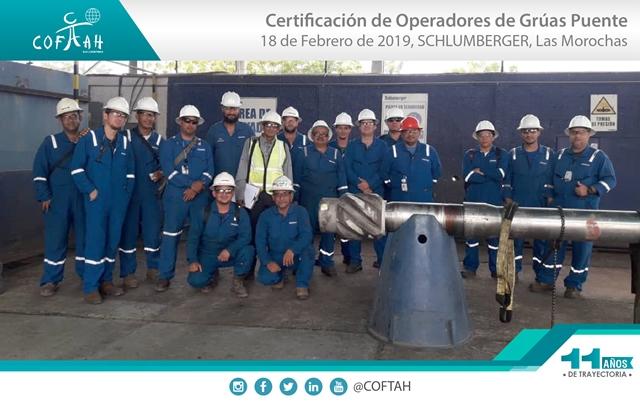 Certificación de Operadores de Grúas Puentes (SCHLUMBERGER) Las Morochas