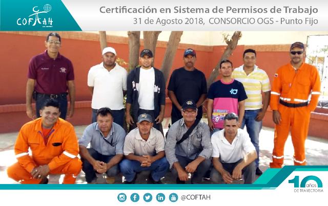 Certificación en Sistema de Permisos de Trabajo (OGS) Punto Fijo