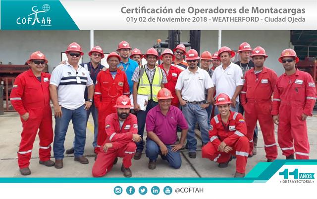 Certificación de Operadores de Montacargas (WEATHERFORD) Ciudad Ojeda