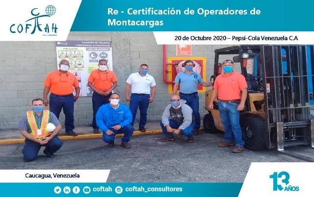 Certificacion de Operadores de Montacargas - PEPSICOLA