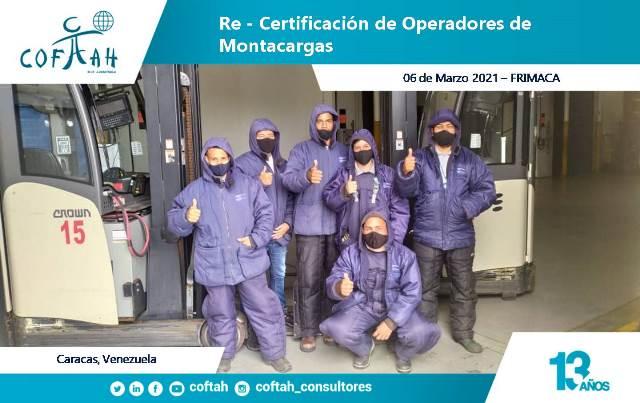 Re-Certificación de Operadores de Montacargas (FRIMACA 06-03-2021)
