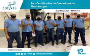 Re-Certificación de Operadores de Montacargas (INPROCECA 05-03-2021)