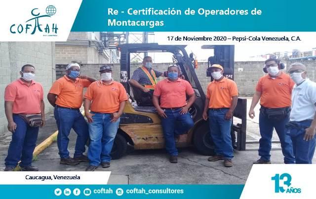 Re-Certificación de Operadores de Montacargas (PEPSI COLA VZLA 17-11-2020)