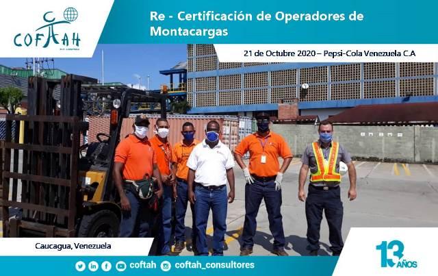 Re-Certificación de Operadores de Montacargas (PEPSICOLA)
