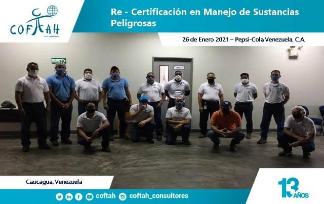 Re-Certificación en Manejo de Sustancias Peligrosas (PEPSICOLA)