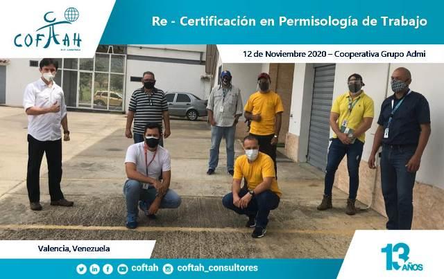 Re-Certificación en Permisologia de Trabajo (GRUPO ADMI 12-11-2020)