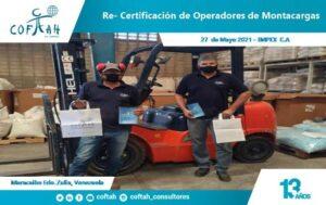 Re-Certificación de Operadores de Montacargas (IMPEX)