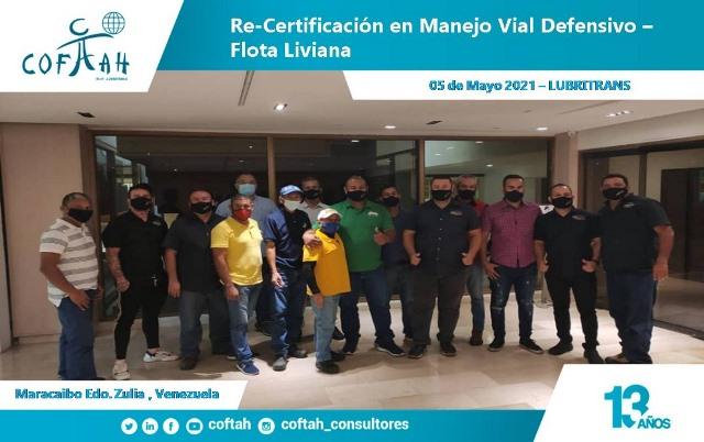 Re-Certificación en Manejo Vial Defensivo - Flota Liviana (LUBRITRANS)