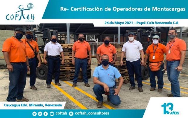 Re-Certificación de Operadores de Montacargas (PEPSICOLA) Caucagua