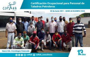 Curso Certificación Ocupaciona para Personal de Taladros Petroleros GEMS GUANIPA TOOL