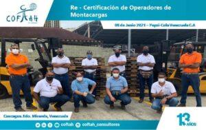 Re-Certificación de Operadores de Montacargas (PEPSI COLA)