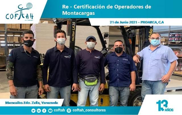Re-Certificación de Operadores de Montacargas en PROARCA