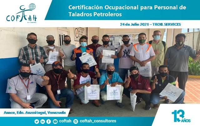 Certificación Ocupacional para Personal de Taladros Petroleros en TROIL SERVICES 5ta