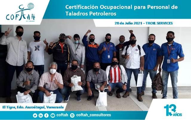 Certificación Ocupacional para Personal de Taladros Petroleros en TROIL SERVICES 6ta