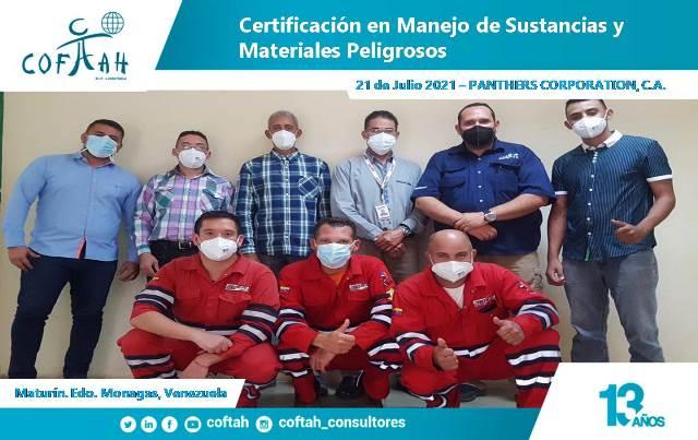 Certificación en Manejo de Sustancias y Materiales Peligrosos