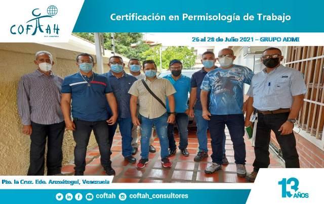 Certificación en Permisología de Trabajo GRUPO ADMI