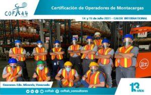 Fotografía foCertificación de Operadores de Montacargas