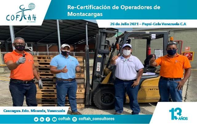 Re-Certificación de Operadores de Montacargas en PEPSICOLA