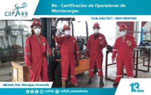 Re-Certificación de Operadores de Montacargas