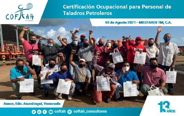 Certificación Ocupacional para Personal de Taladros Petrolero