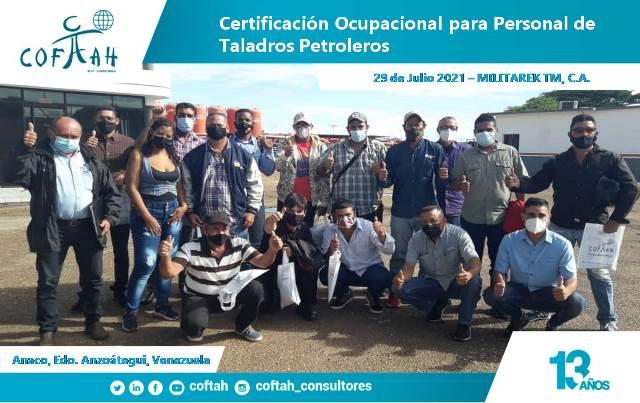 Certificación Ocupacional para Personal de Taladros Petroleros en MILITAREK TM 4ta