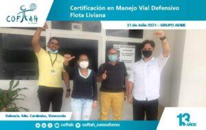 Certificación en Manejo Vial Defensivo Flota Liviana