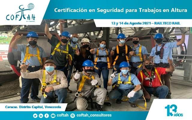 Certificación en Seguridad para Trabajos en Alturas (RAILTECO RAIL) Caracas