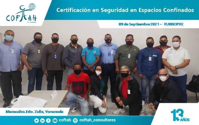 Certificación en Seguridad en Espacios Confinados TURBOPRE en Maracaibo 1era